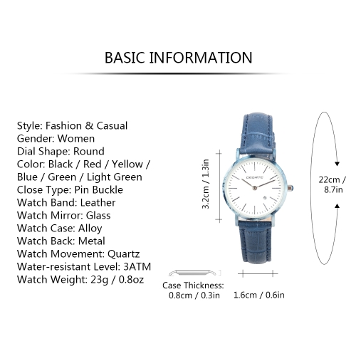 BEDATE Imitative Jade Genuine Leather Fashion Simple Women Watches Quartz 3ATM Water-resistant Woman Casual Wristwatch CalendarApparel &amp; Jewelry<br>BEDATE Imitative Jade Genuine Leather Fashion Simple Women Watches Quartz 3ATM Water-resistant Woman Casual Wristwatch Calendar<br>