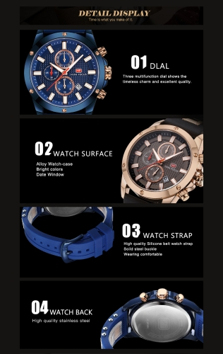 MINI FOCUS Fashion Luminous Quartz Man Watch Water-Proof Silicone Band Men Casual Wristwatch Chrono Sports Style + BoxApparel &amp; Jewelry<br>MINI FOCUS Fashion Luminous Quartz Man Watch Water-Proof Silicone Band Men Casual Wristwatch Chrono Sports Style + Box<br>