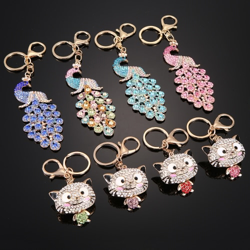 Fashionable Charm Jewelry Hollow Shining Rhinestone Aureate Animal Pendant Key Ring Chain for Handbag Bag Women GiftApparel &amp; Jewelry<br>Fashionable Charm Jewelry Hollow Shining Rhinestone Aureate Animal Pendant Key Ring Chain for Handbag Bag Women Gift<br>