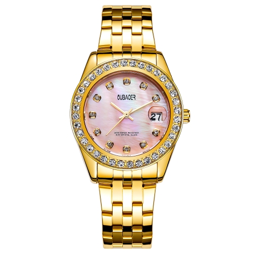 OUBAOER Fashion Luxury Stainless Steel Women Watches Quartz 3ATM Water-resistant Casual Woman Wristwatch CalendarApparel &amp; Jewelry<br>OUBAOER Fashion Luxury Stainless Steel Women Watches Quartz 3ATM Water-resistant Casual Woman Wristwatch Calendar<br>