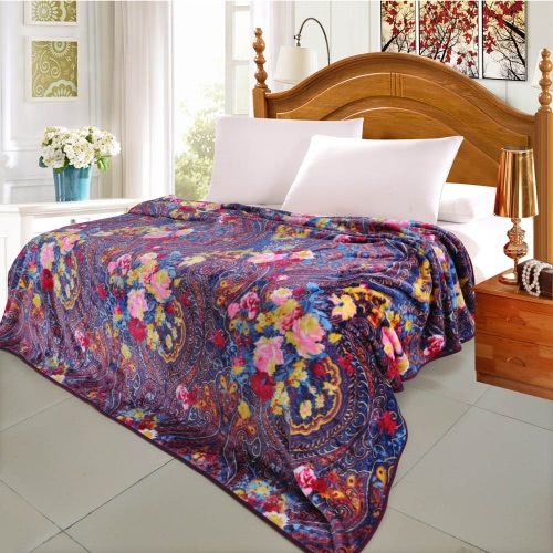 Vintage Ham Pattern Printed Flannel Blanket Bed Sheet Bedclothes Home Textiles Queen Size 200 * 230CMHome &amp; Garden<br>Vintage Ham Pattern Printed Flannel Blanket Bed Sheet Bedclothes Home Textiles Queen Size 200 * 230CM<br>