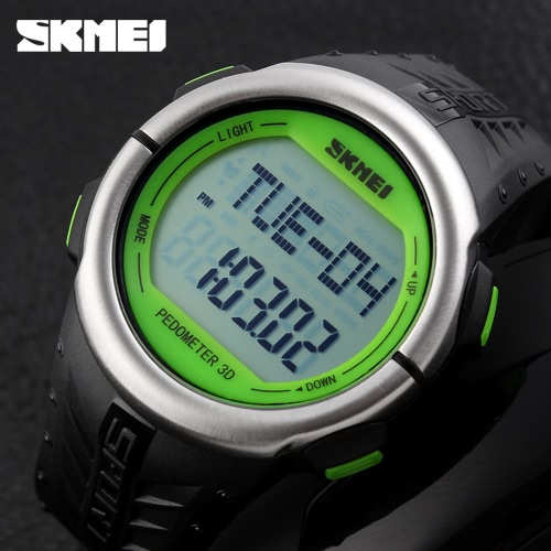 SKMEI Fashion Casual Pedometer Digital Sports Watch Heart Rate Monitor Wristwatch with Chronograph FunctionApparel &amp; Jewelry<br>SKMEI Fashion Casual Pedometer Digital Sports Watch Heart Rate Monitor Wristwatch with Chronograph Function<br>