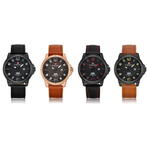 NAVIFORCE Unique 3D Face Man Watch 3ATM Water Resistant Genuine Leather PU Watchband Leisure Army Military Wristwatch with Date/WeApparel &amp; Jewelry<br>NAVIFORCE Unique 3D Face Man Watch 3ATM Water Resistant Genuine Leather PU Watchband Leisure Army Military Wristwatch with Date/We<br>