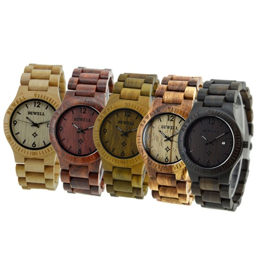 BEWELL High-quality Brand Fashion Wood Quartz Watch Water-resistant Luminous Men Women Zebrano Wooden Casual Wristwatch with CalenApparel &amp; Jewelry<br>BEWELL High-quality Brand Fashion Wood Quartz Watch Water-resistant Luminous Men Women Zebrano Wooden Casual Wristwatch with Calen<br>