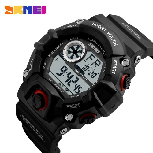 SKMEI Brand Digital LED 50M Water-Proof Men Military Sports Watches Fashion Man Electronic Outdoor Casual Wristwatch Alarm BackligApparel &amp; Jewelry<br>SKMEI Brand Digital LED 50M Water-Proof Men Military Sports Watches Fashion Man Electronic Outdoor Casual Wristwatch Alarm Backlig<br>