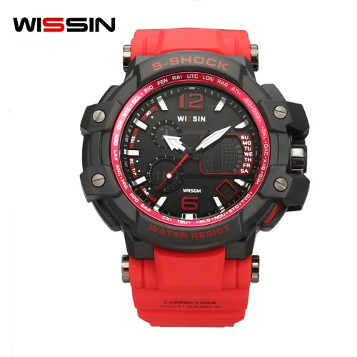 Wissin Shockproof 5ATM Water-resistant Watch Men Sport Watches Quartz Wristwatch Backlight Calendar Relogio MusculinoApparel &amp; Jewelry<br>Wissin Shockproof 5ATM Water-resistant Watch Men Sport Watches Quartz Wristwatch Backlight Calendar Relogio Musculino<br>