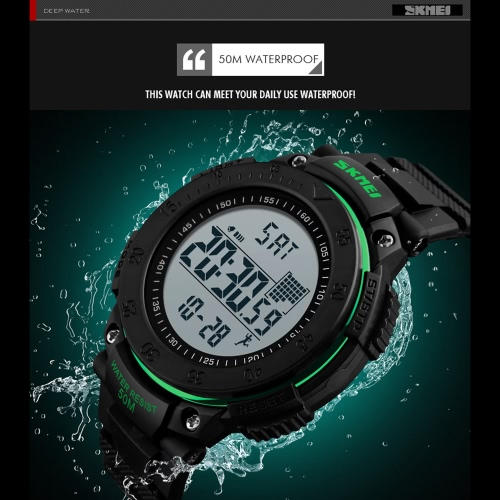 SKMEI Unisex Digital Watch Men Sports Watches Pedometer 5ATM Water-resistant Wristwatches Alarm Clock Backlight Pedometer RelogioApparel &amp; Jewelry<br>SKMEI Unisex Digital Watch Men Sports Watches Pedometer 5ATM Water-resistant Wristwatches Alarm Clock Backlight Pedometer Relogio<br>