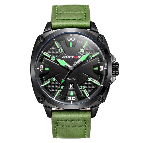 RISTOS 2017 Fashion Luminous Sports Military Style Men Watch Quartz Water-Proof Man Casual Wristwatch Calendar Masculino Relogio +Apparel &amp; Jewelry<br>RISTOS 2017 Fashion Luminous Sports Military Style Men Watch Quartz Water-Proof Man Casual Wristwatch Calendar Masculino Relogio +<br>