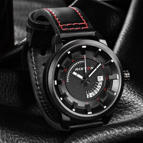 RISTOS 3ATM Water-resistant Quartz Watch Fashion Casual Men Watches Luminous Wristwatch Male CalendarApparel &amp; Jewelry<br>RISTOS 3ATM Water-resistant Quartz Watch Fashion Casual Men Watches Luminous Wristwatch Male Calendar<br>
