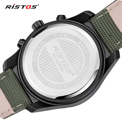 RISTOS 3ATM Water-resistant Sport Watch Quartz Wristwatch Men Watch Male CalendarApparel &amp; Jewelry<br>RISTOS 3ATM Water-resistant Sport Watch Quartz Wristwatch Men Watch Male Calendar<br>
