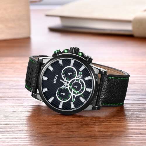 Bolisi Fashion Casual Quartz Watch 3ATM Water-resistant Men Watches Genuine Leather Wristwatch Male Calendar TimerApparel &amp; Jewelry<br>Bolisi Fashion Casual Quartz Watch 3ATM Water-resistant Men Watches Genuine Leather Wristwatch Male Calendar Timer<br>