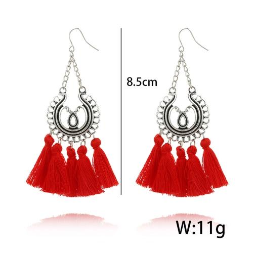 Fashion Bohemian Earrings Women Circle Long Tassel Fringe Dangle Earrings Jewelry AccessoryApparel &amp; Jewelry<br>Fashion Bohemian Earrings Women Circle Long Tassel Fringe Dangle Earrings Jewelry Accessory<br>