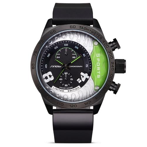 SINOBI 3ATM Water-resistant Sport Watch Quartz Watch Men Wristwatches Male Calendar ChronographApparel &amp; Jewelry<br>SINOBI 3ATM Water-resistant Sport Watch Quartz Watch Men Wristwatches Male Calendar Chronograph<br>