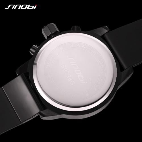 SINOBI Sport Watch 3ATM Water-resistant Quartz Watch Men Wristwatches Male CalendarApparel &amp; Jewelry<br>SINOBI Sport Watch 3ATM Water-resistant Quartz Watch Men Wristwatches Male Calendar<br>
