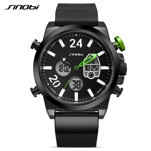 SINOBI Sport Quartz Watch 3ATM Water-resistant Men Watches Luminous Wristwatch Male ChronographApparel &amp; Jewelry<br>SINOBI Sport Quartz Watch 3ATM Water-resistant Men Watches Luminous Wristwatch Male Chronograph<br>
