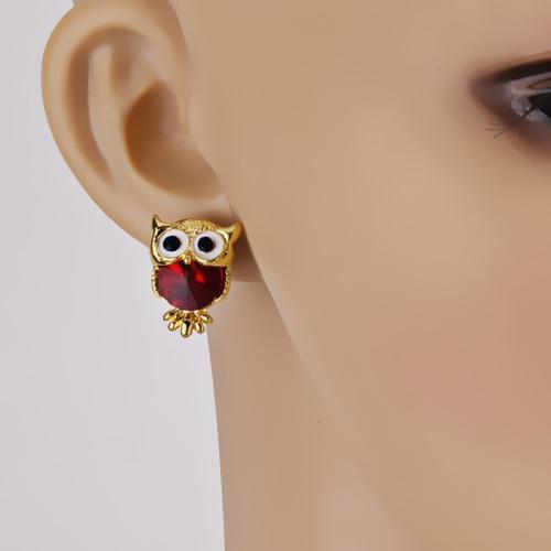 Fashion Naughty Owl Crystal Rhinestone Sparkle Cubic Zirconia Ear Studs Earrings Women JewelryApparel &amp; Jewelry<br>Fashion Naughty Owl Crystal Rhinestone Sparkle Cubic Zirconia Ear Studs Earrings Women Jewelry<br>