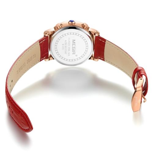 MEGIR Fashion Luxury Women Watches 3ATM Water-resistant Quartz Woman Wristwatch Chronograph CalendarApparel &amp; Jewelry<br>MEGIR Fashion Luxury Women Watches 3ATM Water-resistant Quartz Woman Wristwatch Chronograph Calendar<br>