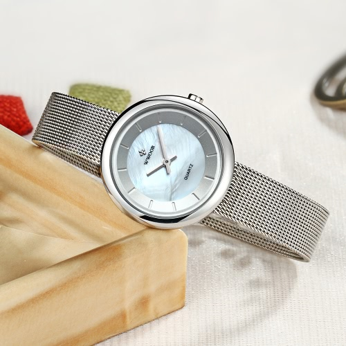 WWOOR Ultra Thin Fashion Luxury Brand Women Watches Stainless Steel Mesh Strap Quartz Analog Water-Proof Casual Wristwatch for LadApparel &amp; Jewelry<br>WWOOR Ultra Thin Fashion Luxury Brand Women Watches Stainless Steel Mesh Strap Quartz Analog Water-Proof Casual Wristwatch for Lad<br>
