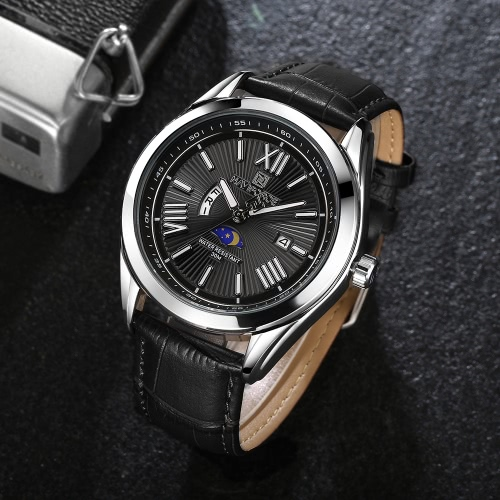 NAVIFORCE Fashion Casual Luxury Watch 3ATM Water-resistant Quartz Watch Luminous Genuine Leather Wristwatch Male CalendarApparel &amp; Jewelry<br>NAVIFORCE Fashion Casual Luxury Watch 3ATM Water-resistant Quartz Watch Luminous Genuine Leather Wristwatch Male Calendar<br>