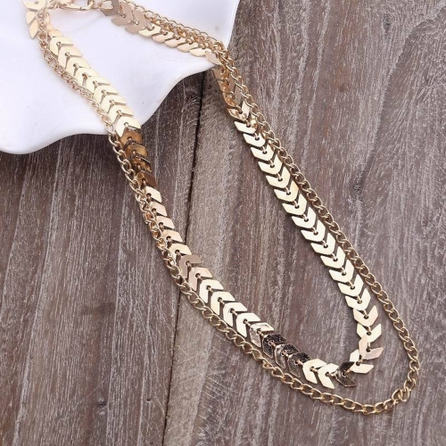 Simple Gold Silver Color Chain Leaf Choker Necklace for Women Chocker Necklace Jewelry GiftApparel &amp; Jewelry<br>Simple Gold Silver Color Chain Leaf Choker Necklace for Women Chocker Necklace Jewelry Gift<br>