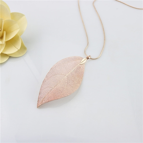 Fashion Natural Alloy Leaf Pendant Necklace Long Sweater Chain for Women Jewelry GiftApparel &amp; Jewelry<br>Fashion Natural Alloy Leaf Pendant Necklace Long Sweater Chain for Women Jewelry Gift<br>