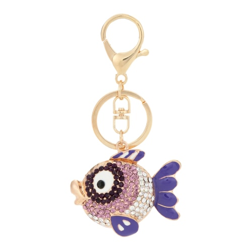 Unique Flying Fish Animal Keyring Rhinestone Car Key Chain Charm Pendant Jewelry Accessories for GiftApparel &amp; Jewelry<br>Unique Flying Fish Animal Keyring Rhinestone Car Key Chain Charm Pendant Jewelry Accessories for Gift<br>