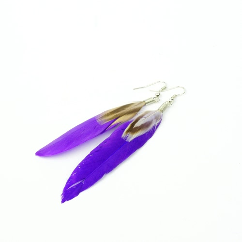 Fashion Long Feather Cute Drop Dangle Chandelier Earring Eardrop Women Girl Jewelry Accessory GiftApparel &amp; Jewelry<br>Fashion Long Feather Cute Drop Dangle Chandelier Earring Eardrop Women Girl Jewelry Accessory Gift<br>