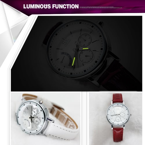 SK Fashion Luxury PU Leather Luminous Women Casual Watches Quartz Analog 30M Water-Proof Ladies Business Watch Feminio RelogioApparel &amp; Jewelry<br>SK Fashion Luxury PU Leather Luminous Women Casual Watches Quartz Analog 30M Water-Proof Ladies Business Watch Feminio Relogio<br>