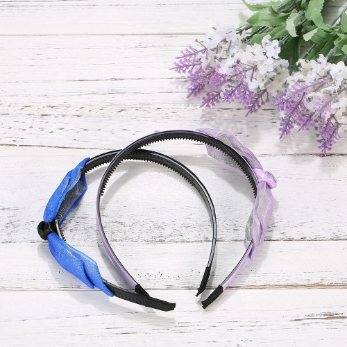 Fashion Double Layer Floral Hairpin Bow Hairbands Korea Rabbit Ears Various Colors All-match Headband