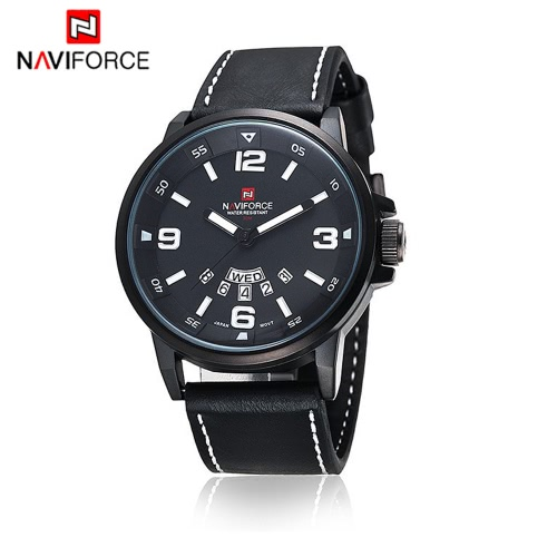 NAVIFORCE Practical 3ATM Water Resistance Quartz Wristwatch PU Leather Strap High Quality Watch with Function of Date WeekApparel &amp; Jewelry<br>NAVIFORCE Practical 3ATM Water Resistance Quartz Wristwatch PU Leather Strap High Quality Watch with Function of Date Week<br>