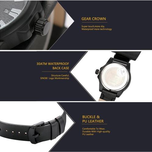 SINOBI Classy Quartz Men Wristwatch Water Resistant SimpleApparel &amp; Jewelry<br>SINOBI Classy Quartz Men Wristwatch Water Resistant Simple<br>
