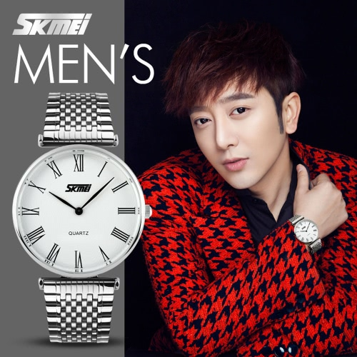 SKMEI 2016 New Men Business Quartz Watch Steel Band Fashion Style Herswatches Waterproof Watches Luxury Lady Casual Thin WristwatcApparel &amp; Jewelry<br>SKMEI 2016 New Men Business Quartz Watch Steel Band Fashion Style Herswatches Waterproof Watches Luxury Lady Casual Thin Wristwatc<br>