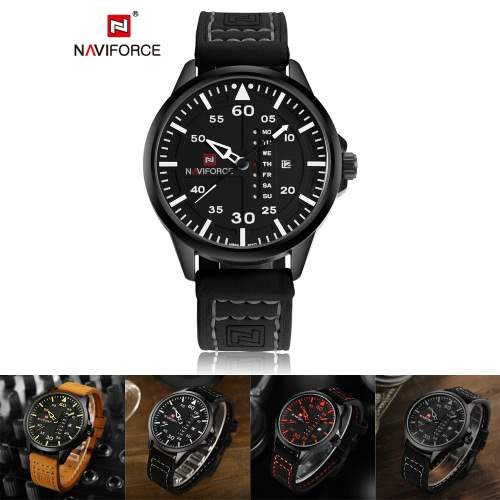 NAVIFORCE Chic Fashion Man Watch 3ATM Water Resistant High Quality Analog Quartz Wristwatch with Date Week DisplayApparel &amp; Jewelry<br>NAVIFORCE Chic Fashion Man Watch 3ATM Water Resistant High Quality Analog Quartz Wristwatch with Date Week Display<br>