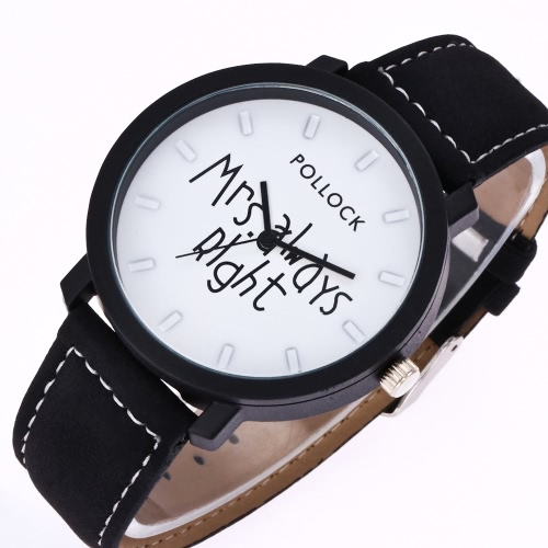 Fashion Casual Mrs Always Right Quartz Analog Wrist Watch Personality for Male and Female StudentsApparel &amp; Jewelry<br>Fashion Casual Mrs Always Right Quartz Analog Wrist Watch Personality for Male and Female Students<br>