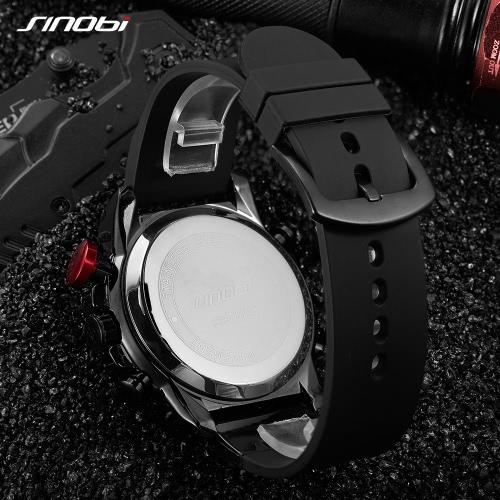 SINOBI Sport Quartz Watch 3ATM Water-resistant Men Watches Luminous Wristwatch Male ChronographApparel &amp; Jewelry<br>SINOBI Sport Quartz Watch 3ATM Water-resistant Men Watches Luminous Wristwatch Male Chronograph<br>