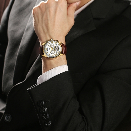 KINYUED Business Watch 3ATM Water-resistant Automatic Mechanical Watch Luminous Men Wristwatches Male CalendarApparel &amp; Jewelry<br>KINYUED Business Watch 3ATM Water-resistant Automatic Mechanical Watch Luminous Men Wristwatches Male Calendar<br>