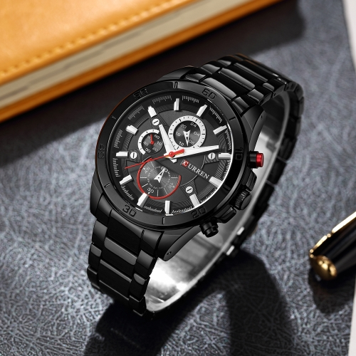 CURREN 2017 Fashion Luminous Stainless Steel Men Watch Quartz Water-Proof Man Business Wristwatch ChronoApparel &amp; Jewelry<br>CURREN 2017 Fashion Luminous Stainless Steel Men Watch Quartz Water-Proof Man Business Wristwatch Chrono<br>