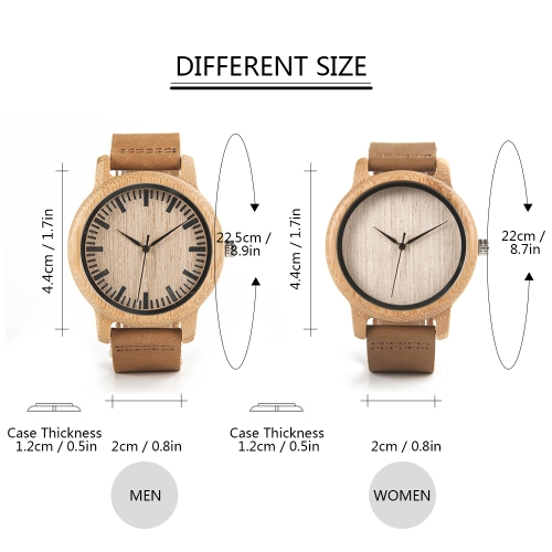 BOBOBIRD Fashion Simple Bamboo Lovers Watches Quartz Genuine Leather Wooden Casual Wristwatch CouplesApparel &amp; Jewelry<br>BOBOBIRD Fashion Simple Bamboo Lovers Watches Quartz Genuine Leather Wooden Casual Wristwatch Couples<br>