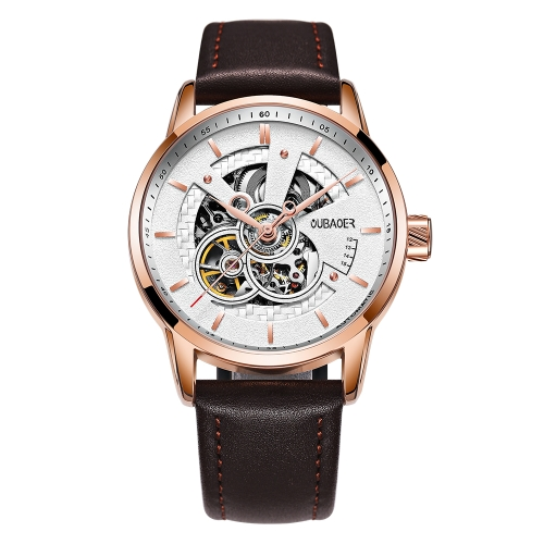 OUBAOER Luxury Genuine Leather business Automatic men Watches Mechanical 3ATM Water-resistant Man WristwatchApparel &amp; Jewelry<br>OUBAOER Luxury Genuine Leather business Automatic men Watches Mechanical 3ATM Water-resistant Man Wristwatch<br>
