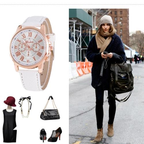 Fashion Luxury PU Leather Quartz Women Watches Vintage Style Lasies Casual Wristwatch Feminio RelogioApparel &amp; Jewelry<br>Fashion Luxury PU Leather Quartz Women Watches Vintage Style Lasies Casual Wristwatch Feminio Relogio<br>