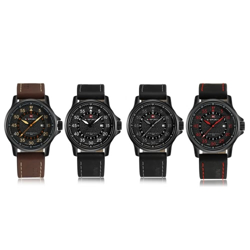 NAVIFORCE 2016 New Fashion Quartz Man Watch High-quality PU Leather Strap Business Casual Men Wristwatch 30M Water-resistant W/ BoApparel &amp; Jewelry<br>NAVIFORCE 2016 New Fashion Quartz Man Watch High-quality PU Leather Strap Business Casual Men Wristwatch 30M Water-resistant W/ Bo<br>