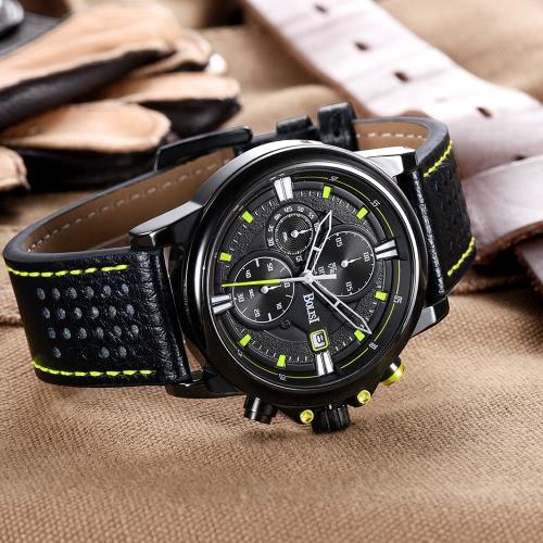 Bolisi Fashion Casual Quartz Watch 3ATM Water-resistant Men Watches Genuine Leather Wristwatch Calendar TimerApparel &amp; Jewelry<br>Bolisi Fashion Casual Quartz Watch 3ATM Water-resistant Men Watches Genuine Leather Wristwatch Calendar Timer<br>