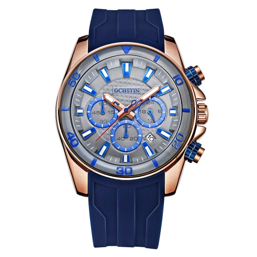 OCHSTIN Fashion Sport Silicone Men Watches Quartz 3ATM Water-resistant Luminous Man Wristwatch Calendar ChronographApparel &amp; Jewelry<br>OCHSTIN Fashion Sport Silicone Men Watches Quartz 3ATM Water-resistant Luminous Man Wristwatch Calendar Chronograph<br>