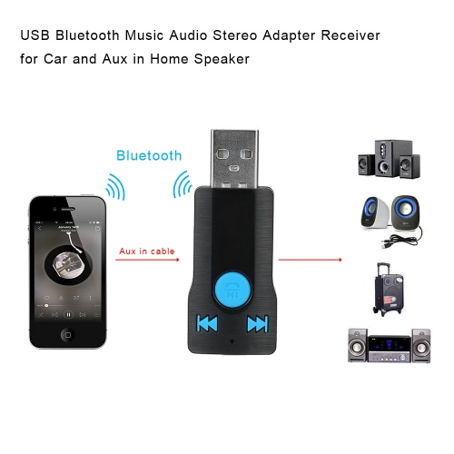 USB Bluetooth Handsfree Phone Calling Music Audio Stereo Adapter Receiver for Car Aux in Home SpeakerCar Accessories<br>USB Bluetooth Handsfree Phone Calling Music Audio Stereo Adapter Receiver for Car Aux in Home Speaker<br>