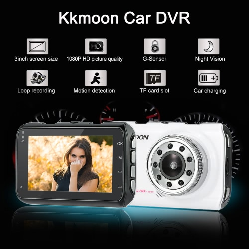 KKmoon 1080P Full HD 3.0 inch Car DVR Camera Video Recorder Vehicle Camcorder Night VisionCar Accessories<br>KKmoon 1080P Full HD 3.0 inch Car DVR Camera Video Recorder Vehicle Camcorder Night Vision<br>