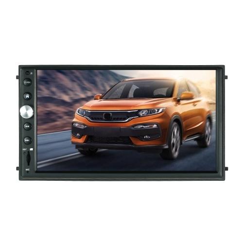 7インチのダブルDin HD車再生オーディオビデオタッチスクリーンプレーヤーSiri人工知能音声機能付きGPSナビゲーション