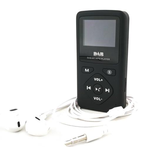 Portátil de bolsillo DAB / DAB + / Radio FM Pantalla LCD profesional LCD Receptor DAB + Kits de auriculares Mayitr