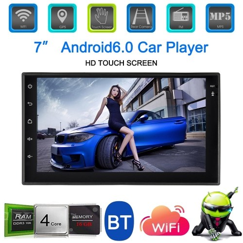 Universal 7'' Smart Android 6.0 2 Din Car Stereo Radio Player GPS Navigation