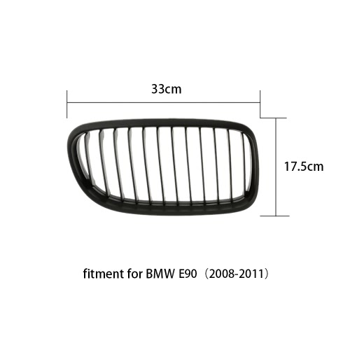 One Pair Front Matte Black M-color Grille Grilles for BMW E90 08-11Car Accessories<br>One Pair Front Matte Black M-color Grille Grilles for BMW E90 08-11<br>