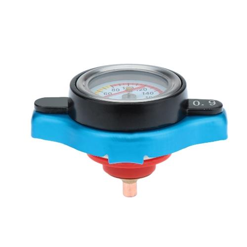 サーモスタット ラジエター キャップ カバー一時水温計 0.9 1.1/1.3BAR/ブルー